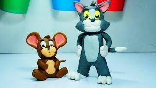 Yapmak için Play clay tom ve jerry çizgi film çocuk l Oyun l oyun kil çocuklar için stop motion clay nasıl