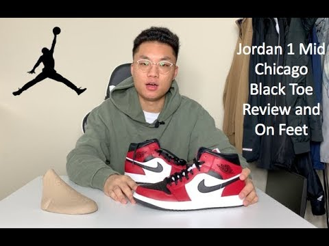 Jordan 1 Mid Chicago Black Toe Review And On Feet Youtube