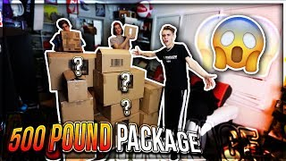 UNBOXING A REALLY HEAVY PACKAGE!! (500 POUNDS)