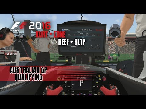 F1 2016 Multiplayer | Beef/Sl1P vs Kurt/Cone | Australia Qualifying