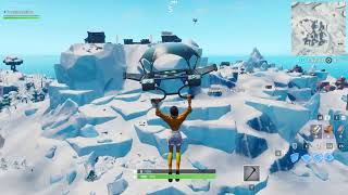 Fortnite v9.20 update Polar Peak Map Changes - Monster escapes Iceberg, Cracks, Footprints on map