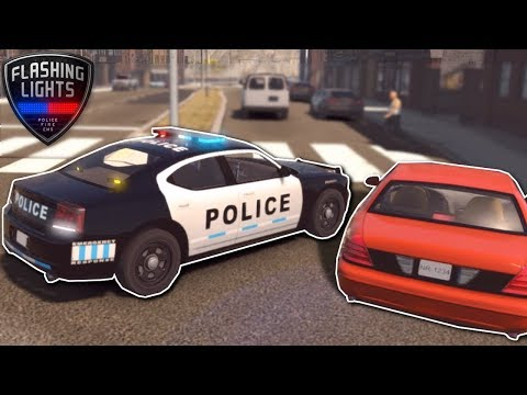 POLICE CHASE AGGRESSIVE DRIVER! - Flashing Lights Gameplay - Emergency Services Simulator Game!
