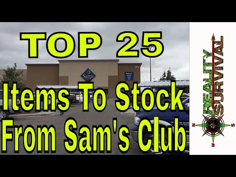 Top 25 Items To Stock From Sam's Club