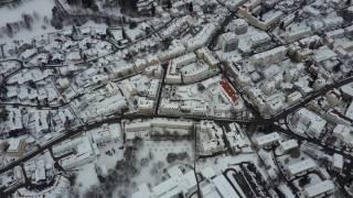 Kempten (Allgäu) & Hochschule im Winter (2) - Luftbildaufnahme mit Bergen