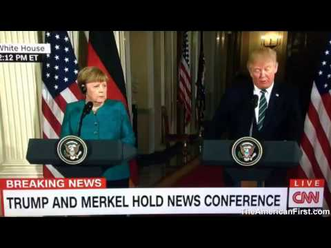 Thumbnail: Angela Merkel grimaces after Trump says 'Radical Islamic terrorism'