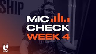 LEC Mic Check: Week 4 | Summer Split 2019