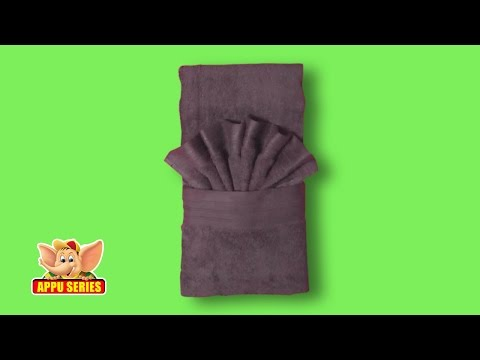 Towel Folding - Unique Hand Towel Fold