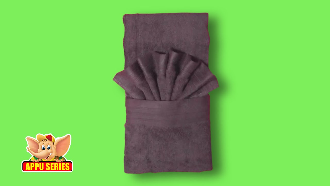 Towel Folding   Unique Hand Towel Fold   YouTube