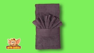 Towel Folding - Unique Hand Towel Fold