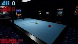 AI learning to play air hockey LIVE! | Unreal Engine 4