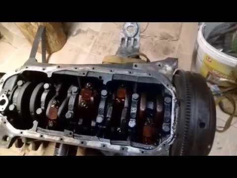 Ремонт двигателя Ауди 100 Часть 8 Демонтаж блока цилиндров, снятие поддона картера