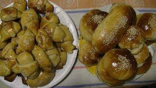 Рогалики и булочки со сгущенкой