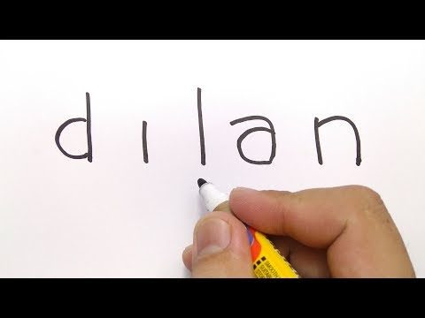 KEREN, cara menggambar DILAN dari kata DILAN.
