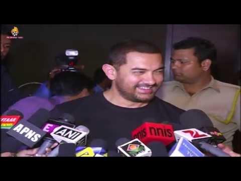 Aamir Khan Watching Movie '' TANU WEDS MANU RETURNS '' Special Screening !!!