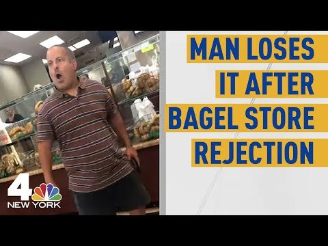 Man Flips Out at NY Bagel Shop Over Woman&39;s Rejection in Viral   NBC New York
