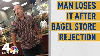 Man Flips Out at NY Bagel Shop Over Woman's Rejection in Viral Video | NBC New York  from NBC New York