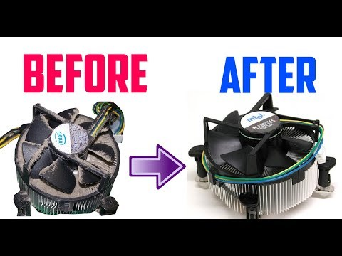 Clean A Desktop Computer Processor Fan + Heatsink Without Compressed Air