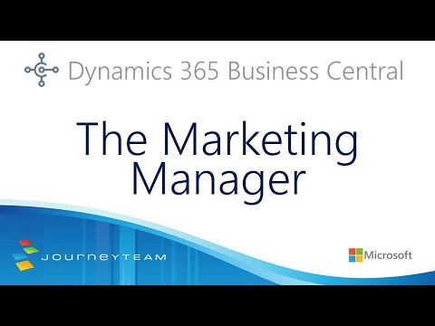 A Marketing Manager's Guide to Dynamics 365 Business Central