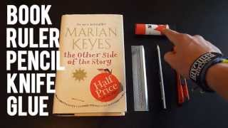 how to cut the pages out of a book