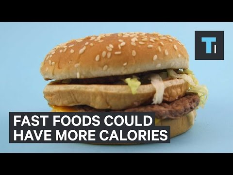 Fast foods that could have more calories