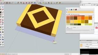 "Sketchup: Drawing A ""square In A Square"" End Grain Cutting Board"