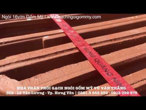 Ngói Lợp 16v/m Gốm Mỹ   Gạch Ngói Gốm Mỹ   Www.gachngoigommy.com