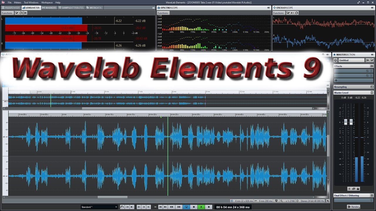 wavelab elements 9 tutorial