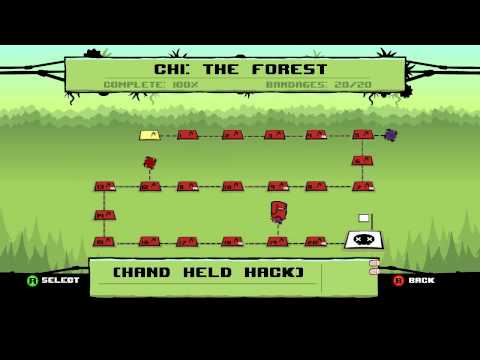 Super Meat Boy Chapter One - The Forest - All Bandages