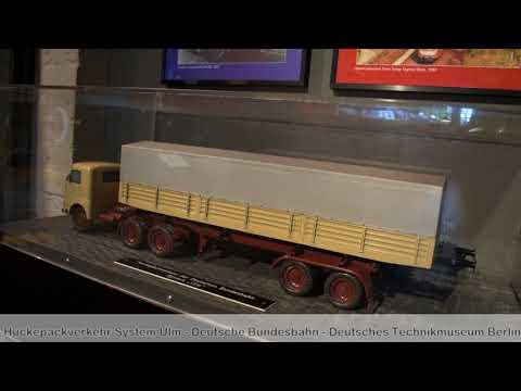 Huckepackverkehr System Ulm Behältertragwagen Deutsche Bundesbahn Deutsches Technikmuseum Berlin