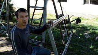 видео Откатные ворота с калиткой, цена на сдвижные ворота с калиткой