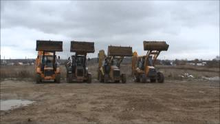 Hyundai, Case, Cat, MST backhoe loader Boom up test