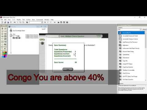How to create Quiz using Authorware|| Authorware 7.0
