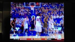 Thomas Robinson Bounces Ball Off Head Into The Basket!!! Very Lucky Shot!!!