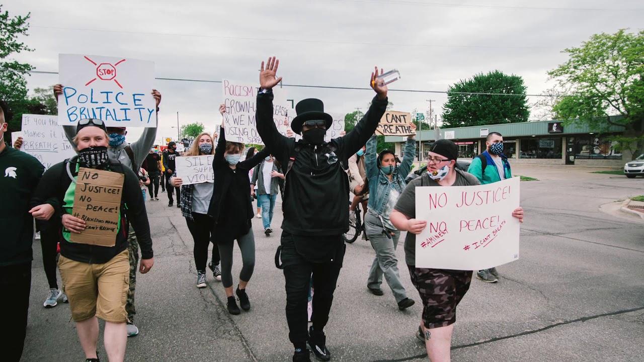 Protest for Justice, March for Peace #BlackLivesMatter #NoJusticeNoPeace (Mount Pleasant, MI)