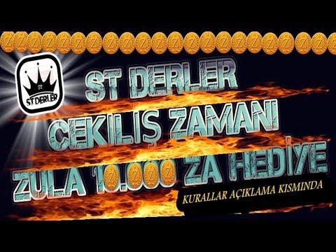 10.000 ZULA ALTINI HEDİYE 300 ABONE ÖZEL ST DERLER