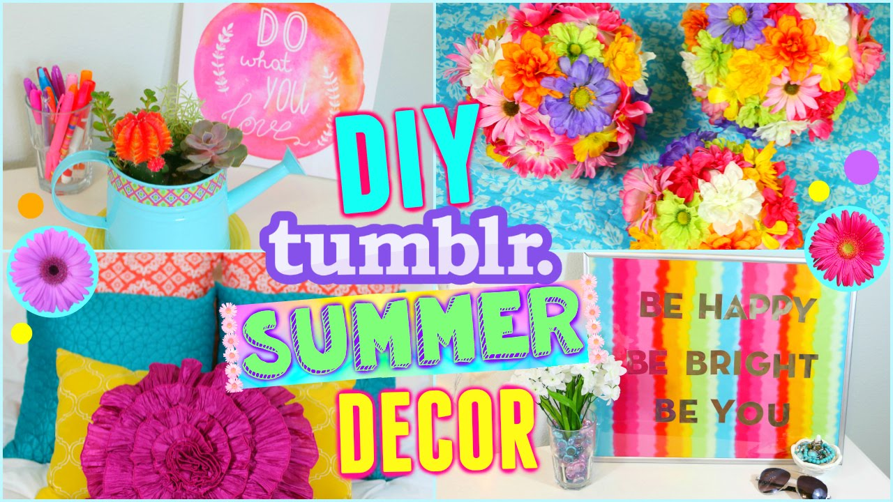 Diy summer room decor ideas make your room cute for for Room decor ideas summer