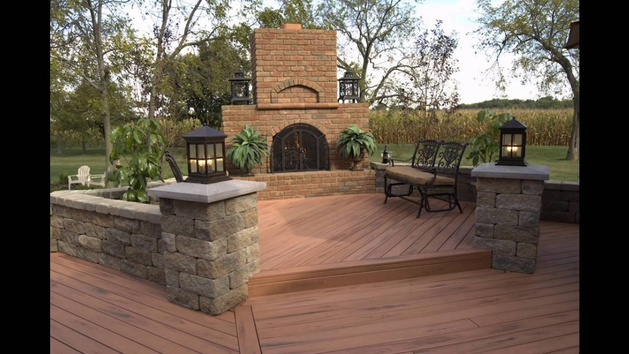 Garden decking ideas for small space youtube for Small garden design ideas decking