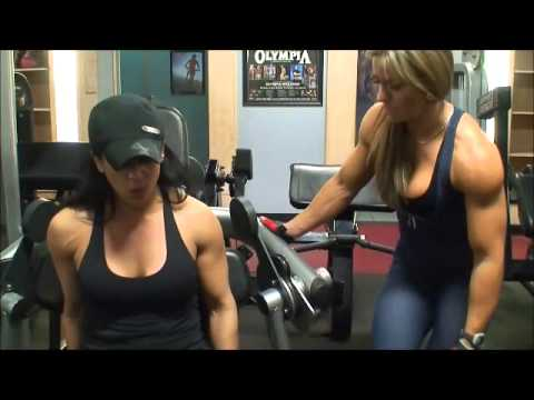 muscle woman intense biceps workout  youtube