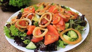 Вкусный салат из кальмаров: Вкусный овощной салат рецепт: Простой салат из кальмаров