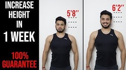 HOW TO INCREASE HEIGHT IN ONE WEEK | 100% GUARANTEED RESULT |