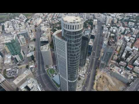 Tall Buildings from Israel on  a drone