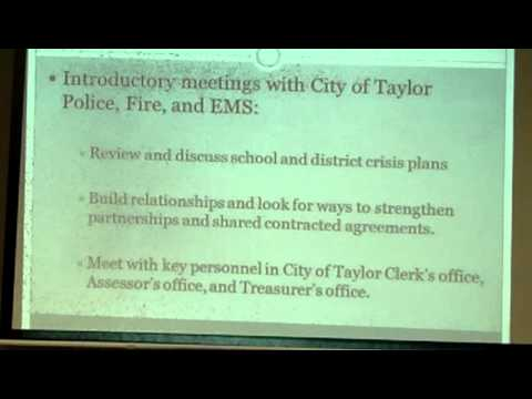 presentation by Mr. Ben Williams, candidate for superintendent's job for Taylor. Part 2