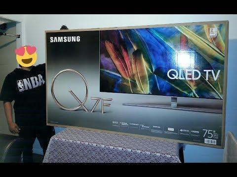 Samsung 75-inch QLED Q7F (unboxing)