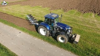 New Holland Claas Lemken ploughing moving