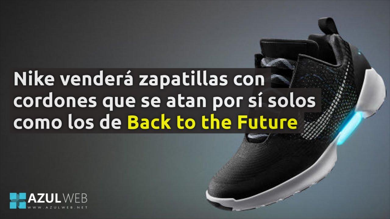 26cf98a61ef Las zapatillas de Nike que se atan por sí solas. - YouTube