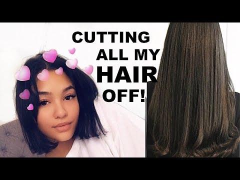 VLOG: I CUT ALL MY HAIR OFF ! (FAIL)