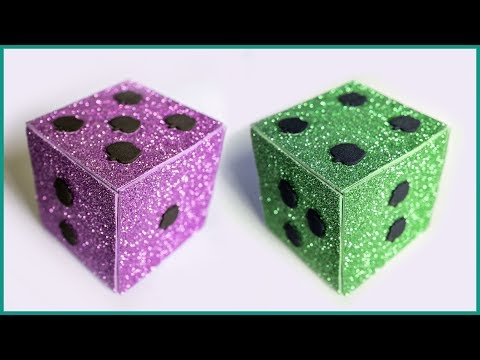 How to Make a Glittery Ludo Dice Cube Out of Foam Sheet & Paper Box The BEST TOY EVER