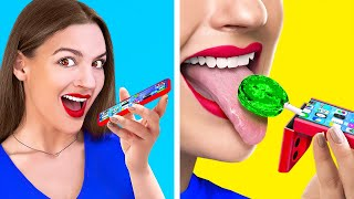 SNEAK FOOD WITH IPHONE! || Food Hacks For Foodies by 123 Go! LIVE