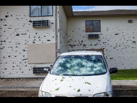Tennis Ball Size Hail Leaves Nebraska Town Looking Like a War Zone