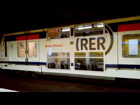 Départ d\'un MI2N et arrivée d\'un MI09 du RER A à Nogent sur Marne ...